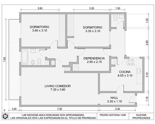 departamento  4 ambientes en caballito