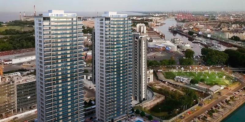 departamento 4 ambientes en piso alto en  link towers puerto madero