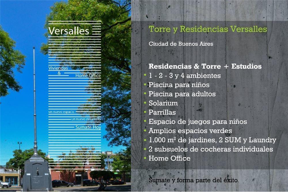 departamento 4 ambientes - versalles con amenities