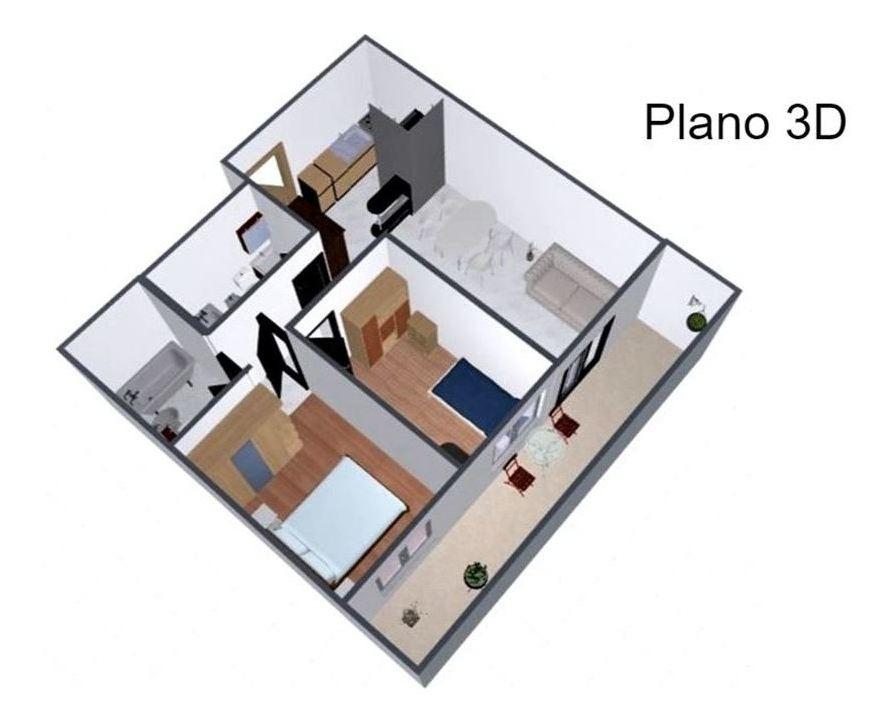 departamento a estrenar 3 ambientes y 2 baños completos coghlan  balcon corrido al frente