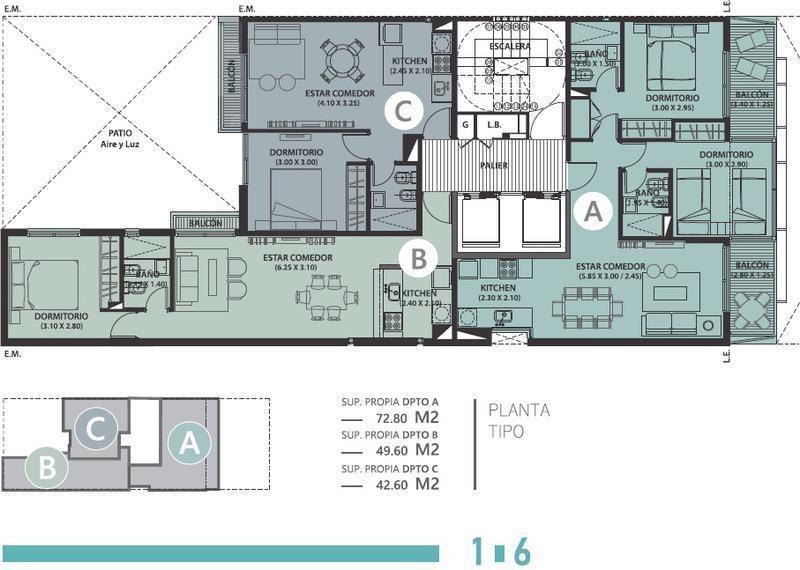 departamento a la venta, un dormitorio, nueva córdoba.