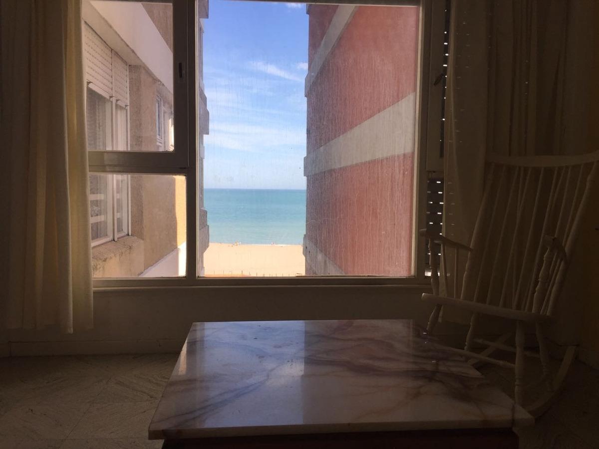 departamento amueblado, 3 ambientes frente al mar - miramar