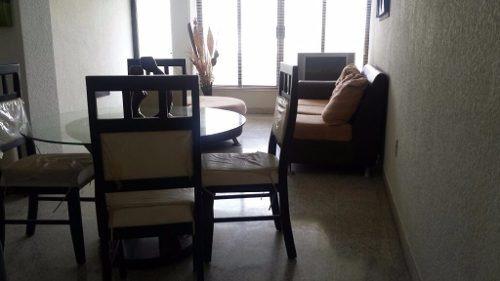 departamento amueblado en renta, col. centro, coatzacoalcos