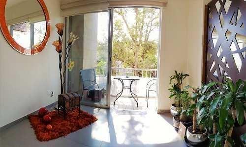 departamento amueblado en ventanas coyoacan de 3 recámaras