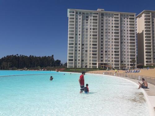 departamento arriendo algarrobo laguna bahía piscina gigante