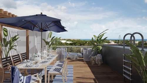 departamento blue house marina puerto morelos club yate lujo