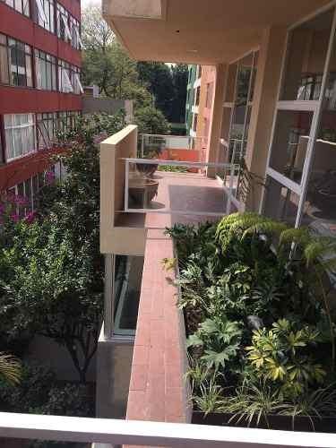 departamento con gran balcón, col. del valle