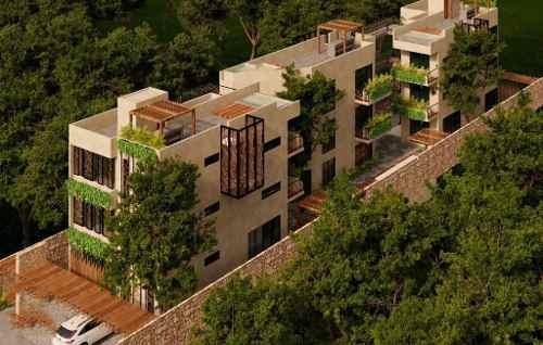 departamento con jardín y jacuzzi en tulum p2737