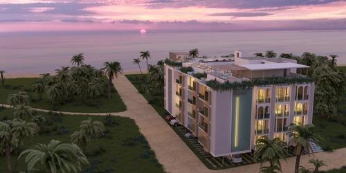 departamento con vista a mar parcial en venta en playa de yucatán, riad romeo