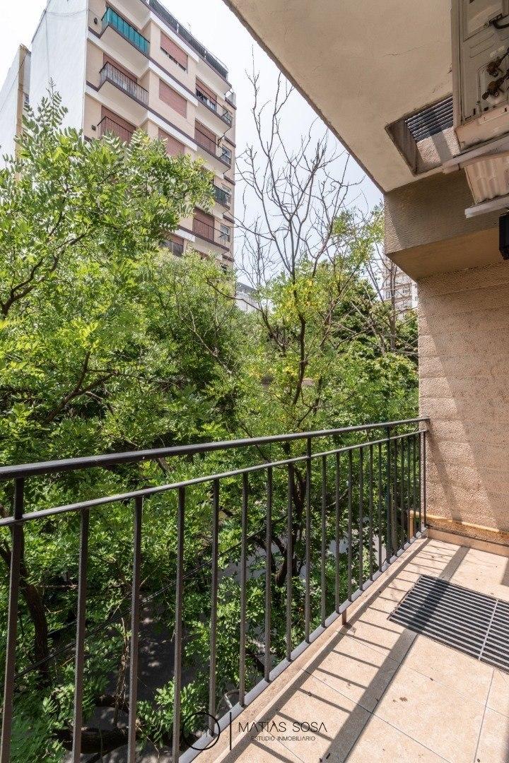 departamento de 1 ambiente a la calle con balcón
