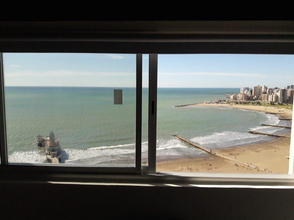 departamento de 1 ambiente  reciclado vista plena al mar - retasado!!