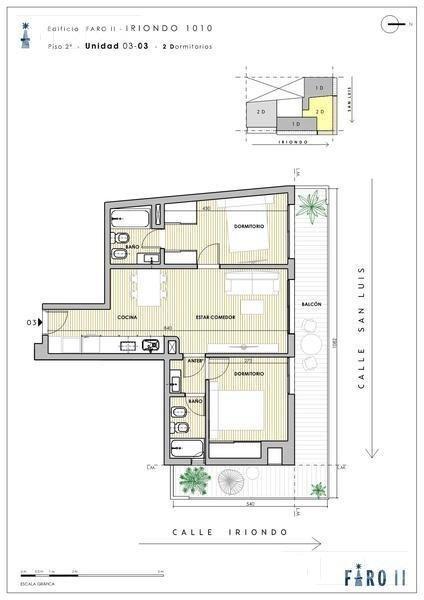 departamento de 1 dormitorio al frente en venta - echesortu - rosario
