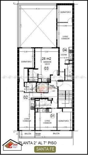 departamento de 1 dormitorio amplia terraza exclusiva | santa fe y callao