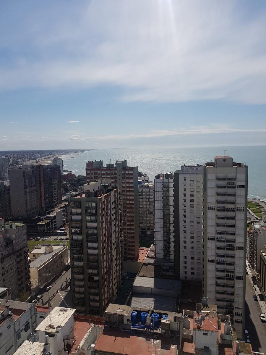 departamento de 2 amb con vista al mar / zona centro / mar del plata