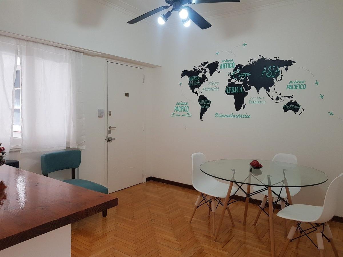 departamento de 2 amb reciclado a la calle invertido en venta / centro
