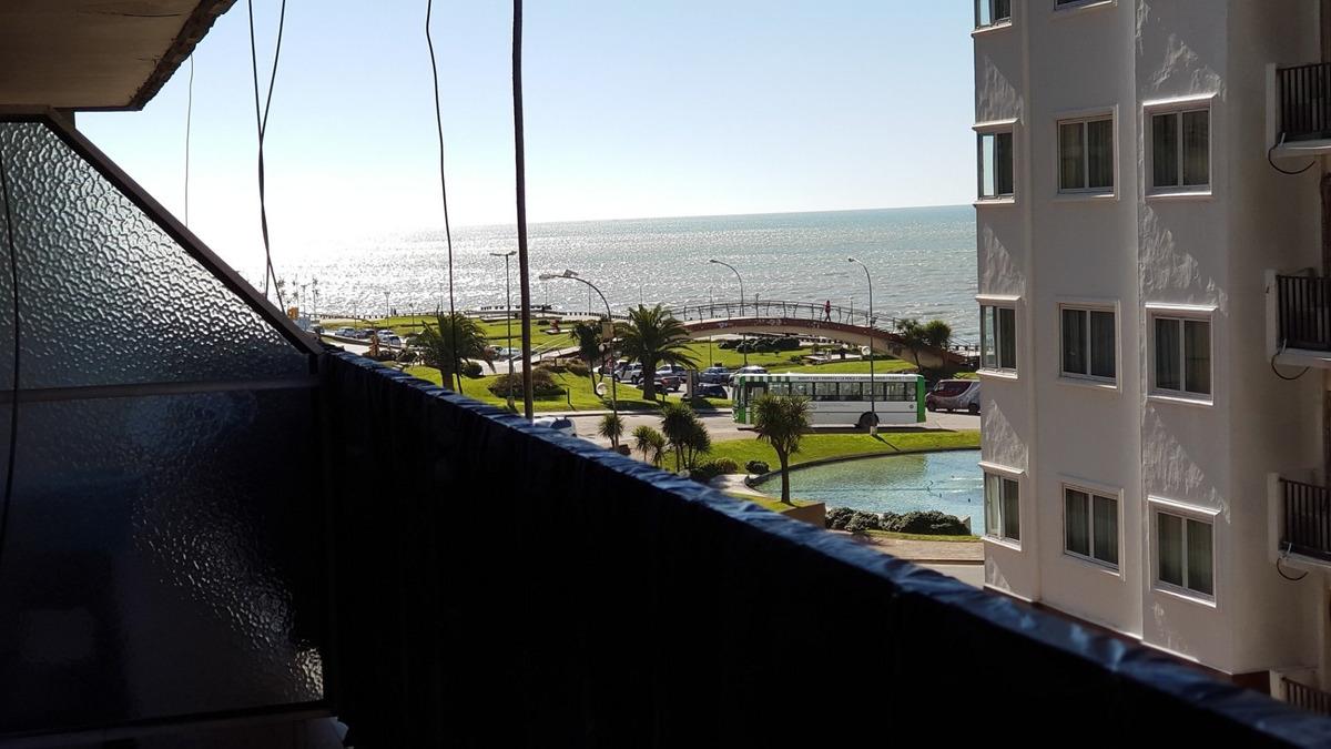 departamento de 2 ambeitnes con cochera y vista parcial al mar / zona punta iglesia / mar del plata