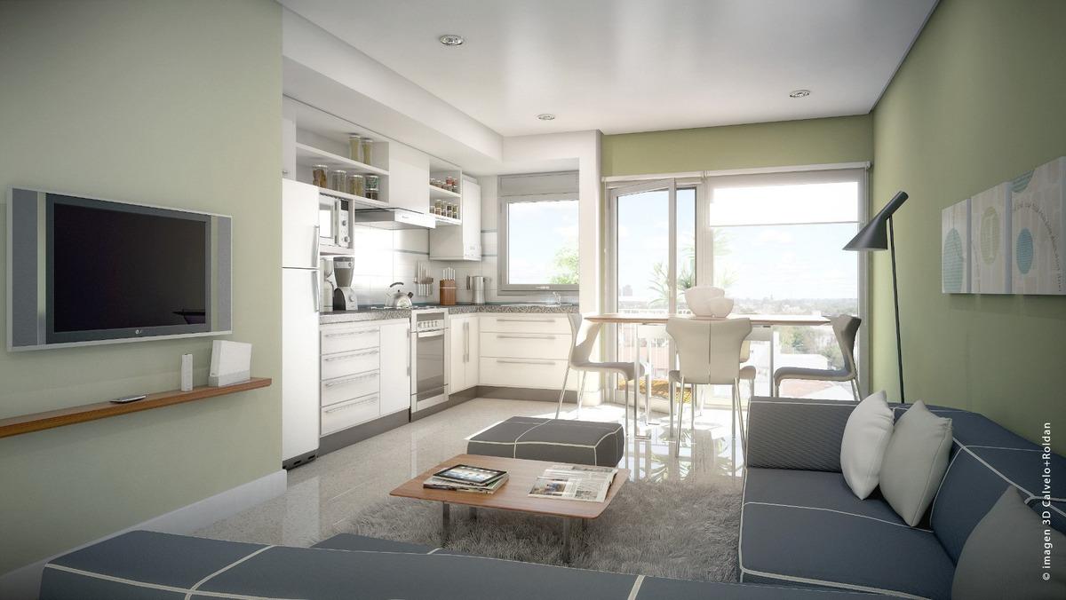 departamento de 2 ambientes con balcon. 40 % anticipo y 48 cuotas. edificio urban. zona la perla