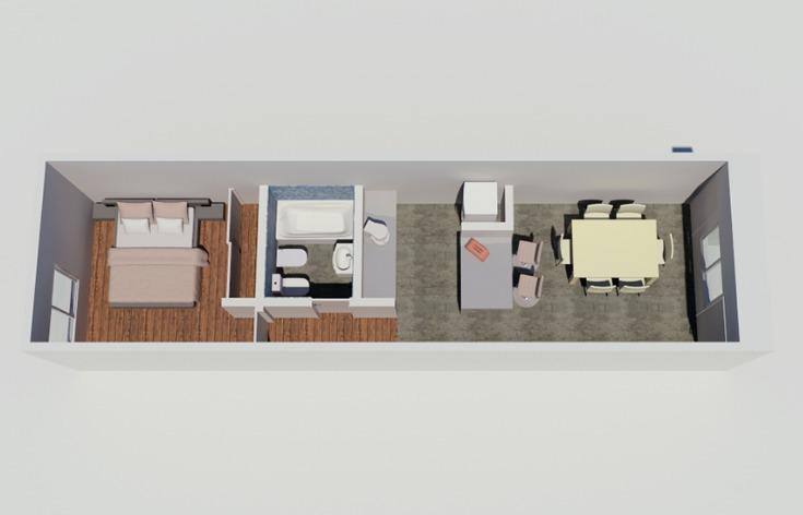 departamento de 2 ambientes en cardales