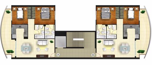 departamento de 2 dormitorios, 2 baños uno en suite.