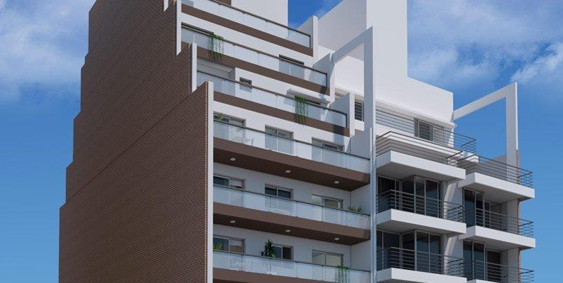 departamento de 2 dormitorios de 81 m2 al frente en san martin al 1600. posible financiacion.