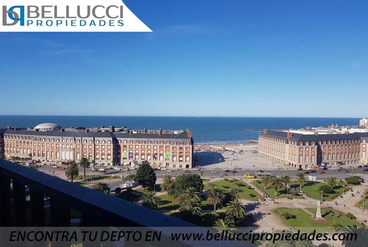 departamento de 3 amb en duplex con vista plena al mar / zona centro