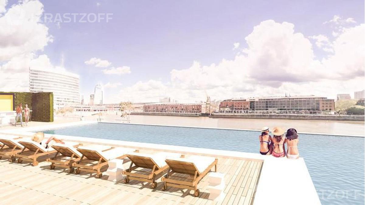 departamento de 3 ambientes 126,10m2 - vista al dique