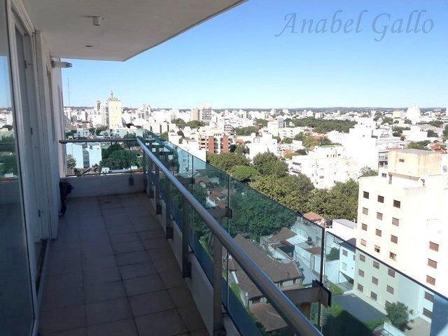 departamento de 3 ambientes con doble balcón corrido, excelente vista!! exquisita arquitectura y diseño