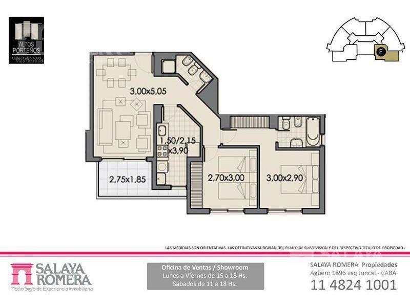 departamento de 3 ambientes en venta en san cristobal