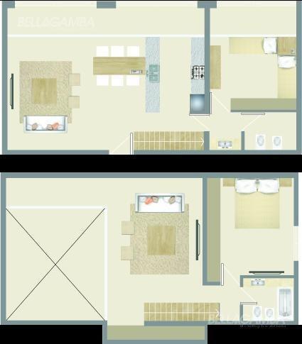 departamento de 4 ambientes con vista a jardín interno.