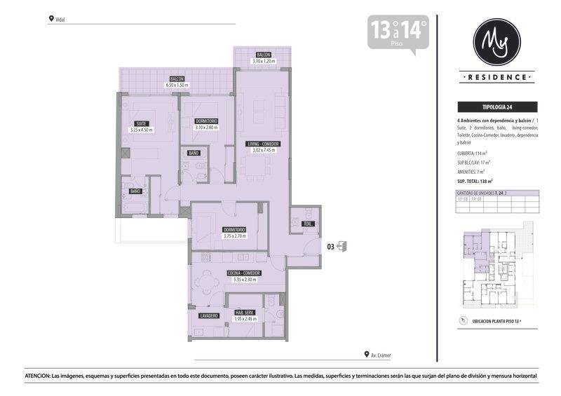 departamento de cuatro ambientes con dependencia en belgrano
