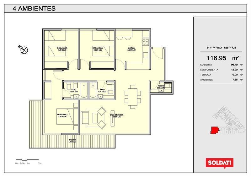 departamento de cuatro ambientes en villa crespo