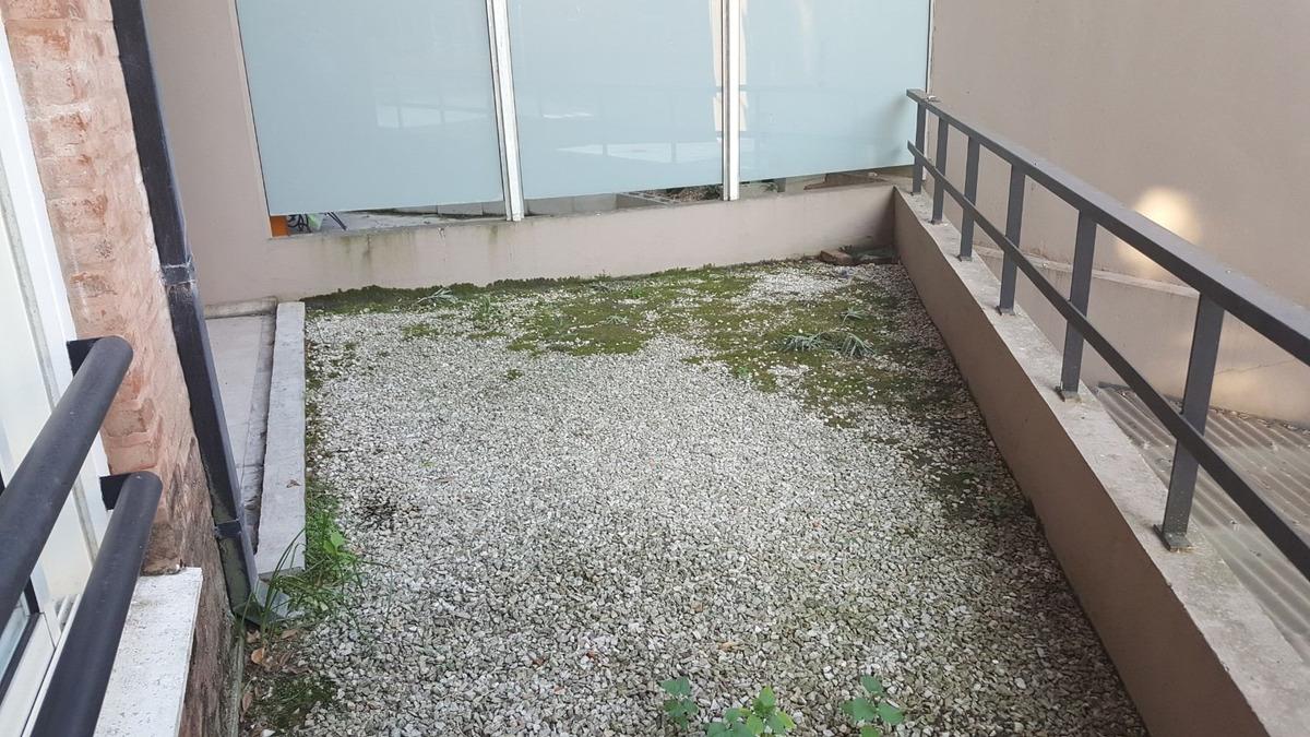 departamento de dos amb. con patio y cochera en excelente ub