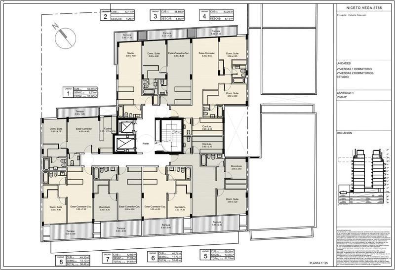 departamento  de dos ambientes en niceto vega al 5700-palermo hollywood