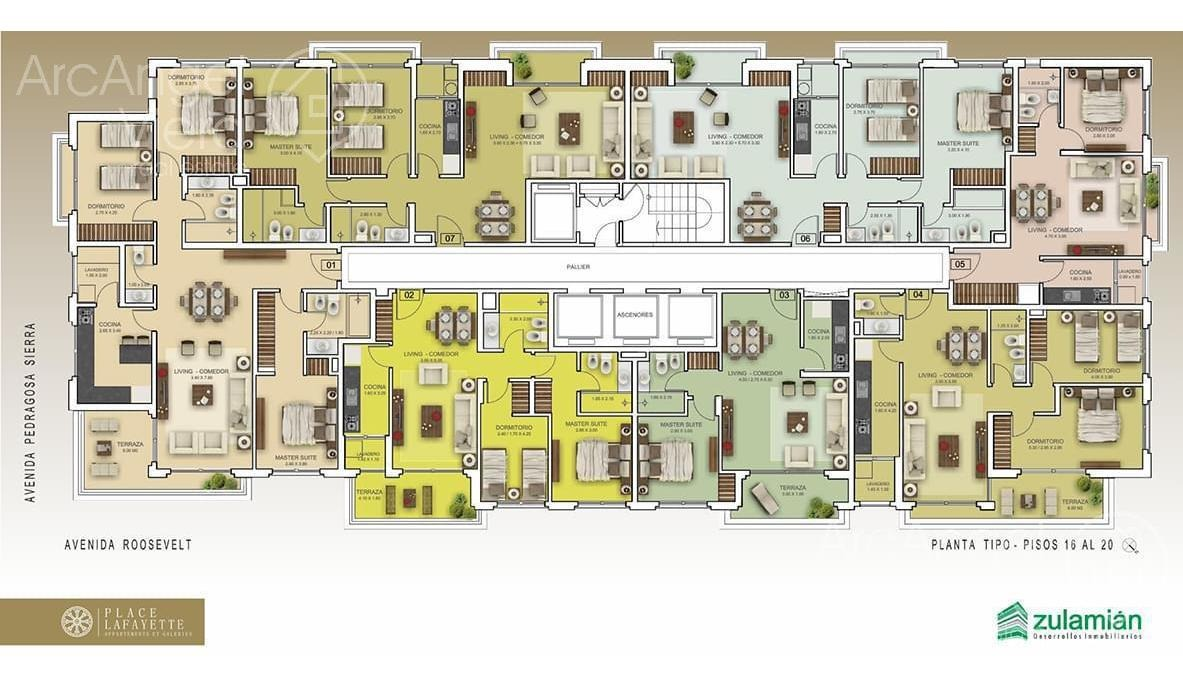 departamento  de dos dormitorios en place la fayette  en punta del este - zona shopping