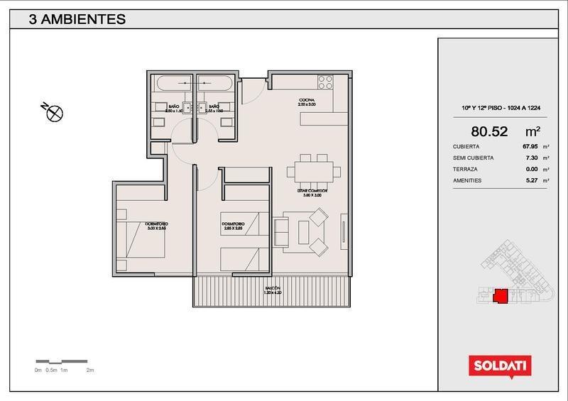 departamento de dos dormitorios en villa crespo