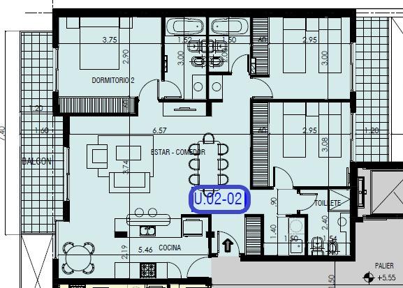 departamento de excelente calidad - 3 dormitorios con balcon corrido al frente - amenities