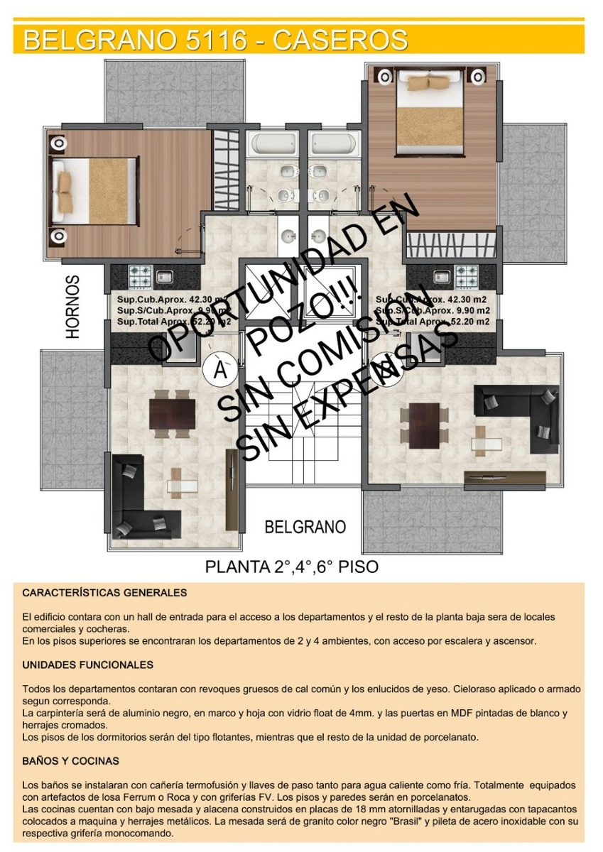 departamento de pozo de 1 a 4 ambientes caseros centro