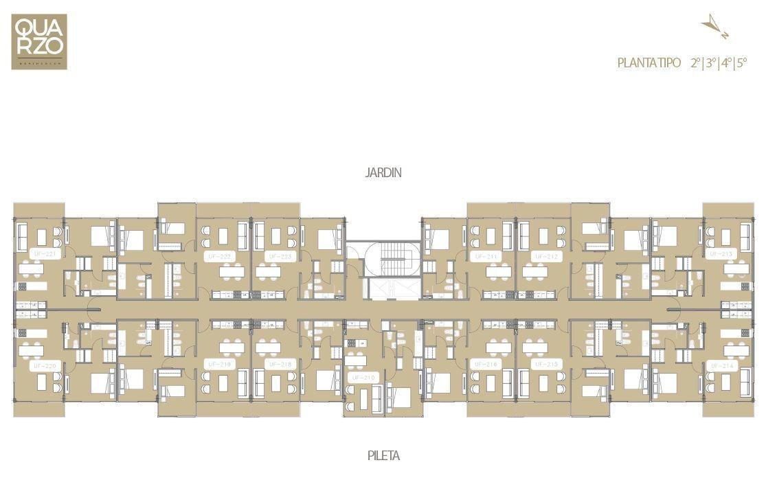 departamento de pozo- quarzo residences, nordelta