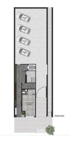 departamento depto de 44 m2 + patio de 22 m2 - dorrego 148 pichincha