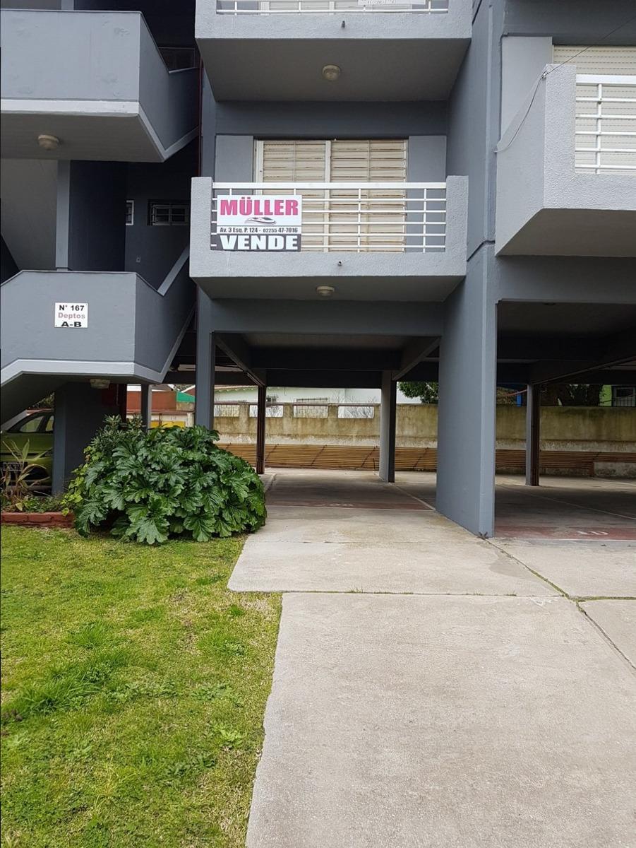 departamento dos ambientes  1°piso -     excelente ubicación  paseo 144 entre av. 1 y 2 c/cochera