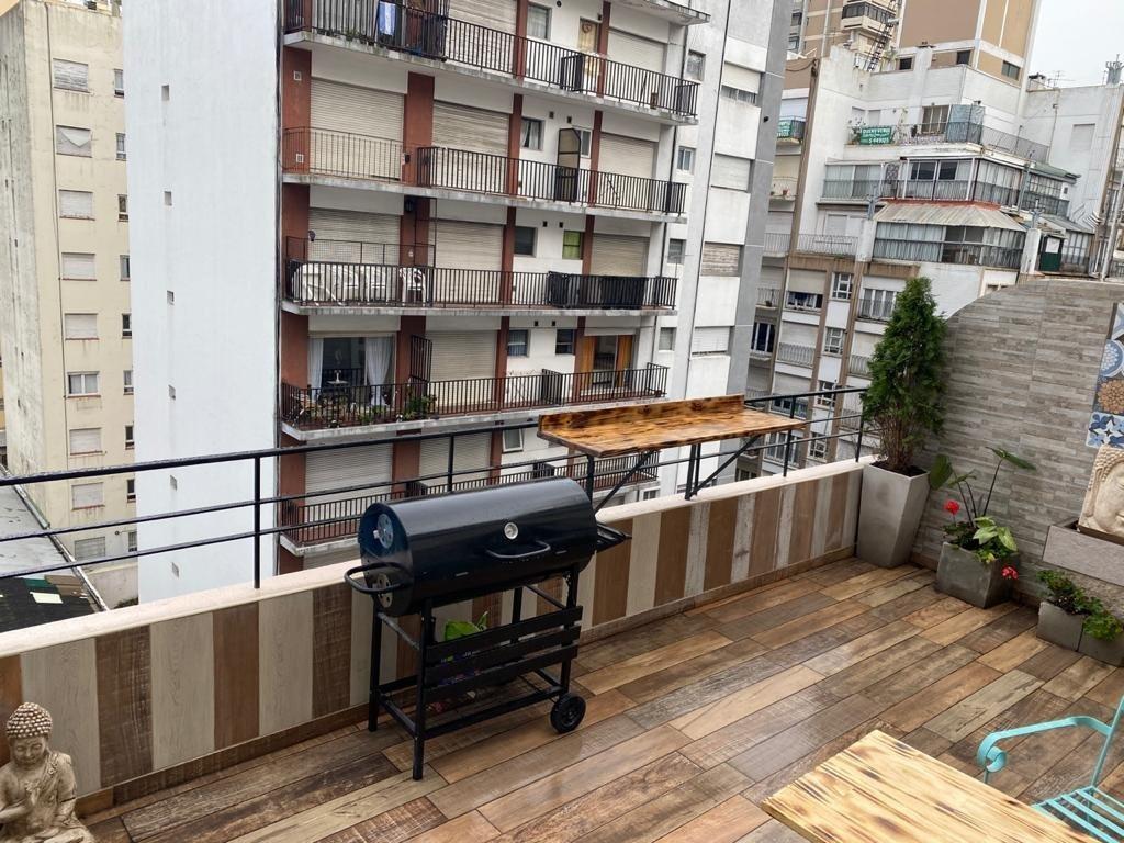 departamento dos ambientes con balcón terraza