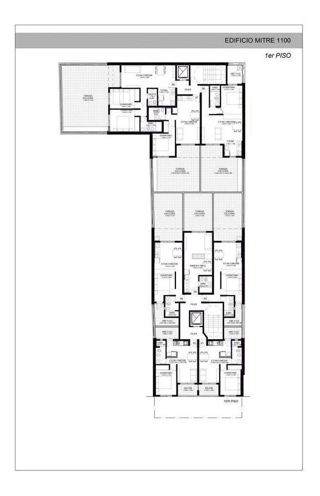 departamento dos dormitorio con balcón mitre 1100 - centro