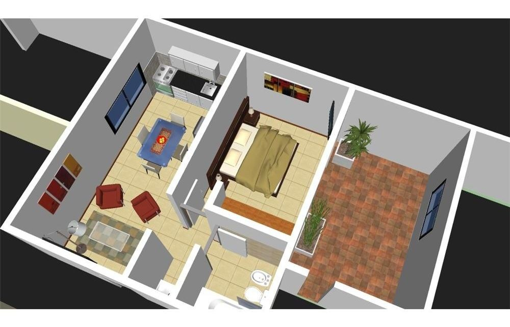 departamento dos dormitorios alto alberdi