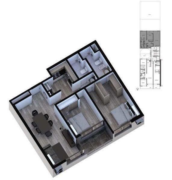 departamento dos dormitorios - mendoza 2269 - 08-03.