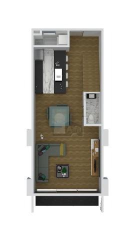 departamento dos recámaras c/baño. cocina equipada en concepto abierto con sala y comedor. preventa