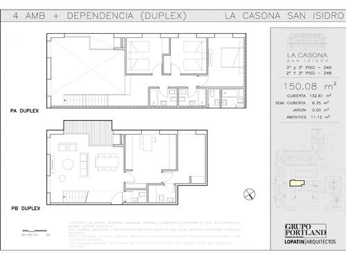 departamento duplex  en venta ubicado en san isidro, zona norte