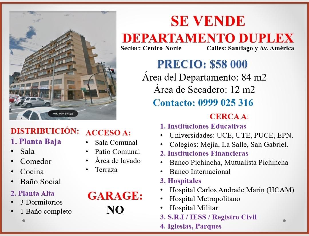 departamento duplex (sector u. central)