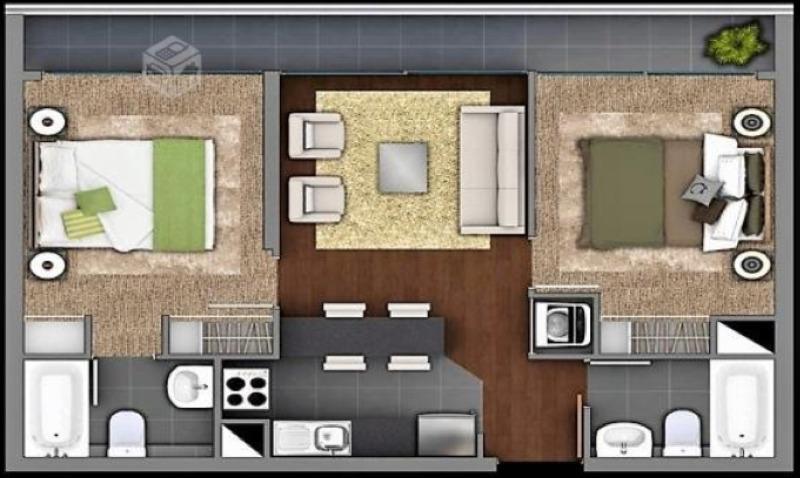 departamento en arriendo de 2 dormitorios en san miguel