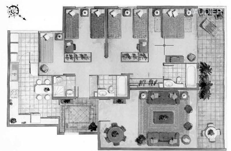 departamento en arriendo de 4 dormitorios en las condes