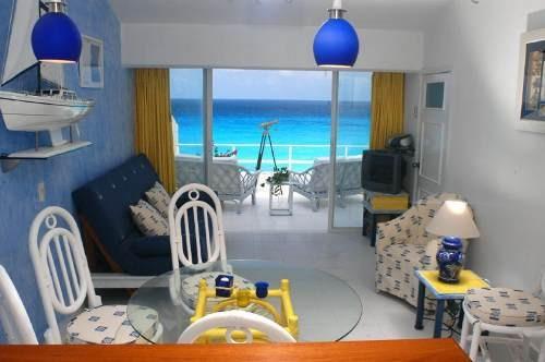 departamento en cancun frente al mar disponible